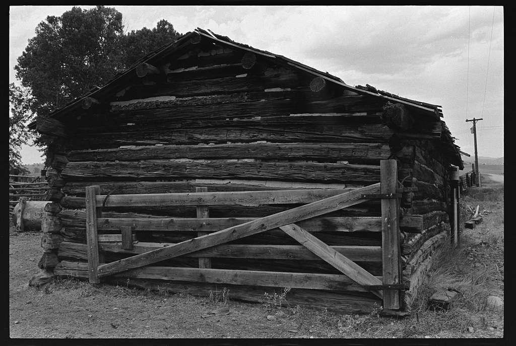Buildings on Johnny Senecal's ranch, rural Avon, Montana