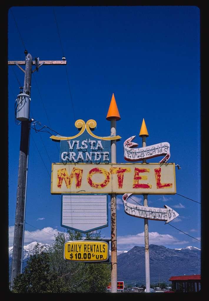 Vista Grande Motel sign, Heber City, Utah