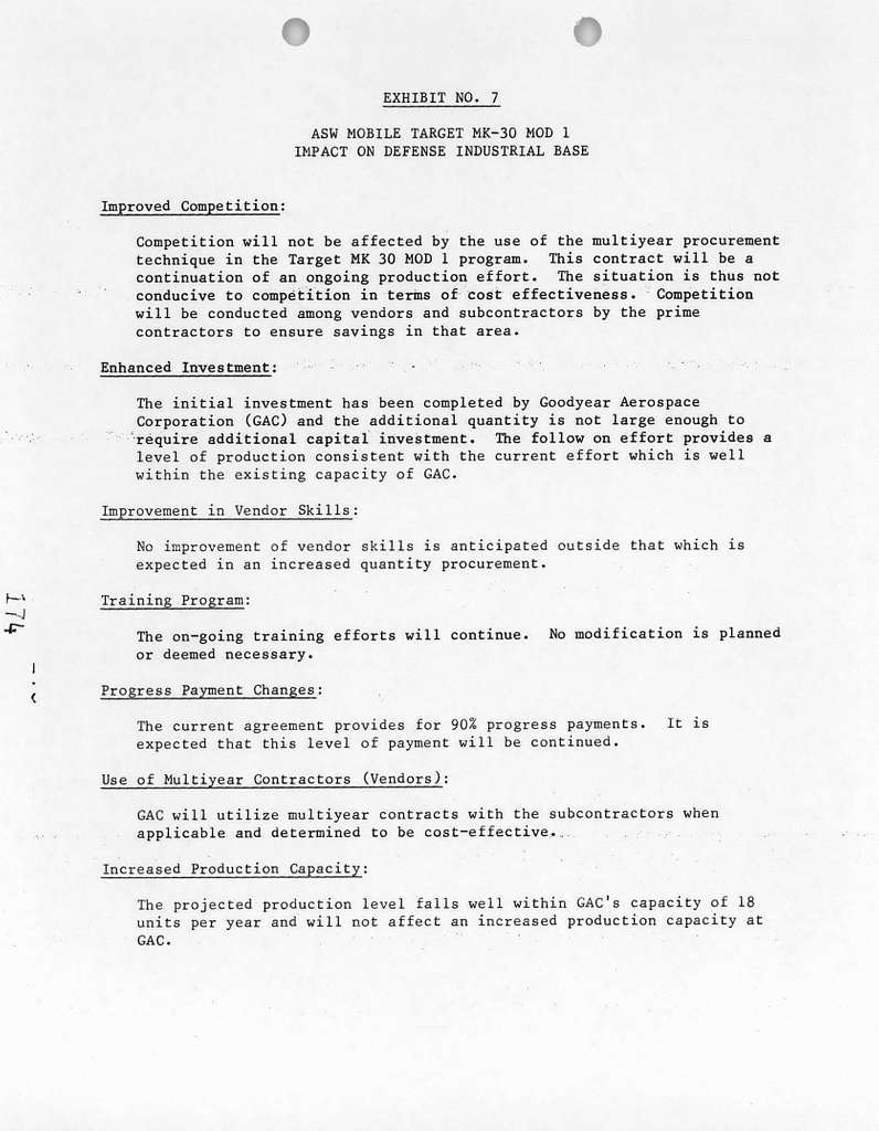 Justification of Estimates for Fiscal Year 1984, Multiyear Procurement, Submitted to Congress January 1983
