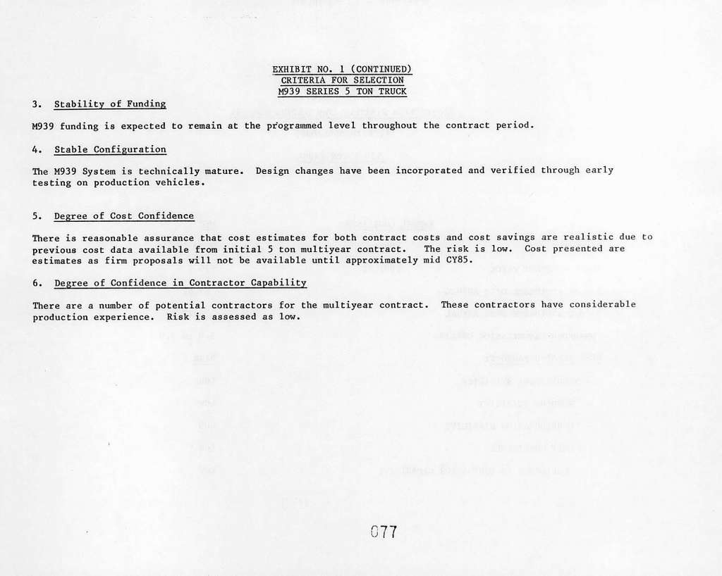 Office of the Secretary of Defense Justification of Estimates for Fiscal Year 1985 Submitted to Congress, Multiyear Procurement, February 1984