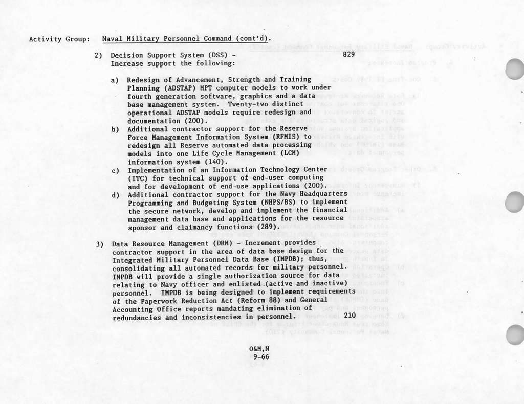 Department of the Navy Justification of Estimates Amended FY 19881989 Biennial Budget, Operation and Maintenance, Navy Book 3 of 4, Submitted to Congress February 1988, Department of Navy Industrial Fund