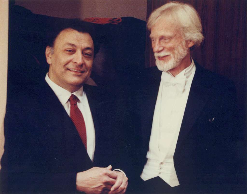 Gerry Mulligan and Zubin Mehta at Lincoln Center - 1989