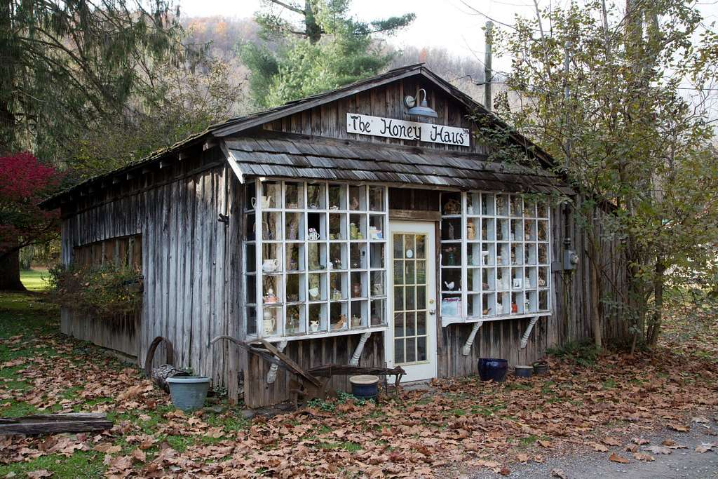 The Honey Haus (house) Cafe in tiny Helvetia, once a Swiss colony in Randolph County, West Virginia