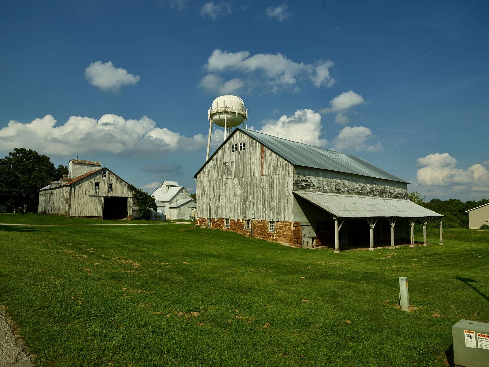 Barns in Amana, one of the Amana Colonies, seven villages in Iowa County, Iowa
