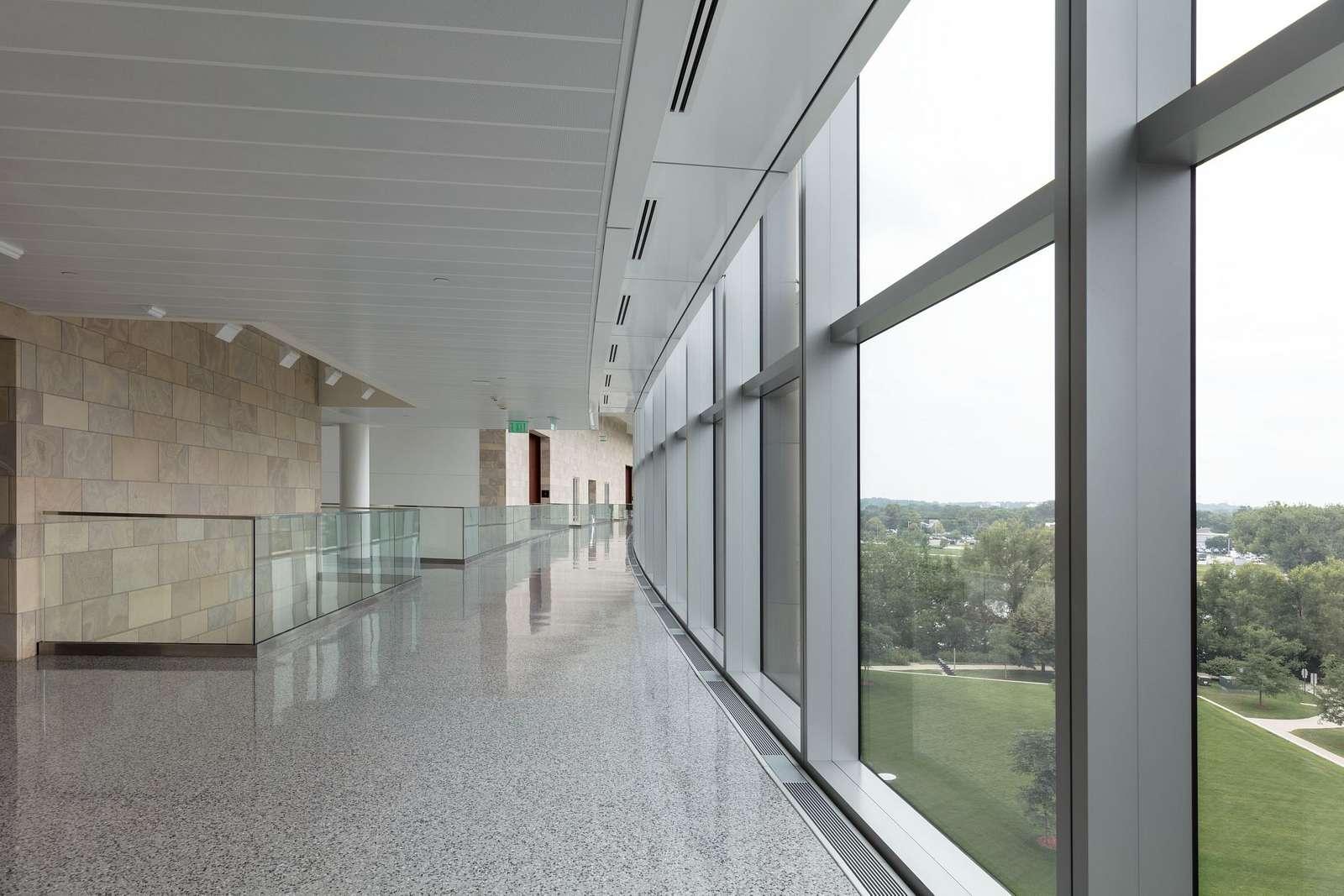 Corridor and windows. U.S. Courthouse and Federal Building, Cedar Rapids, Iowa