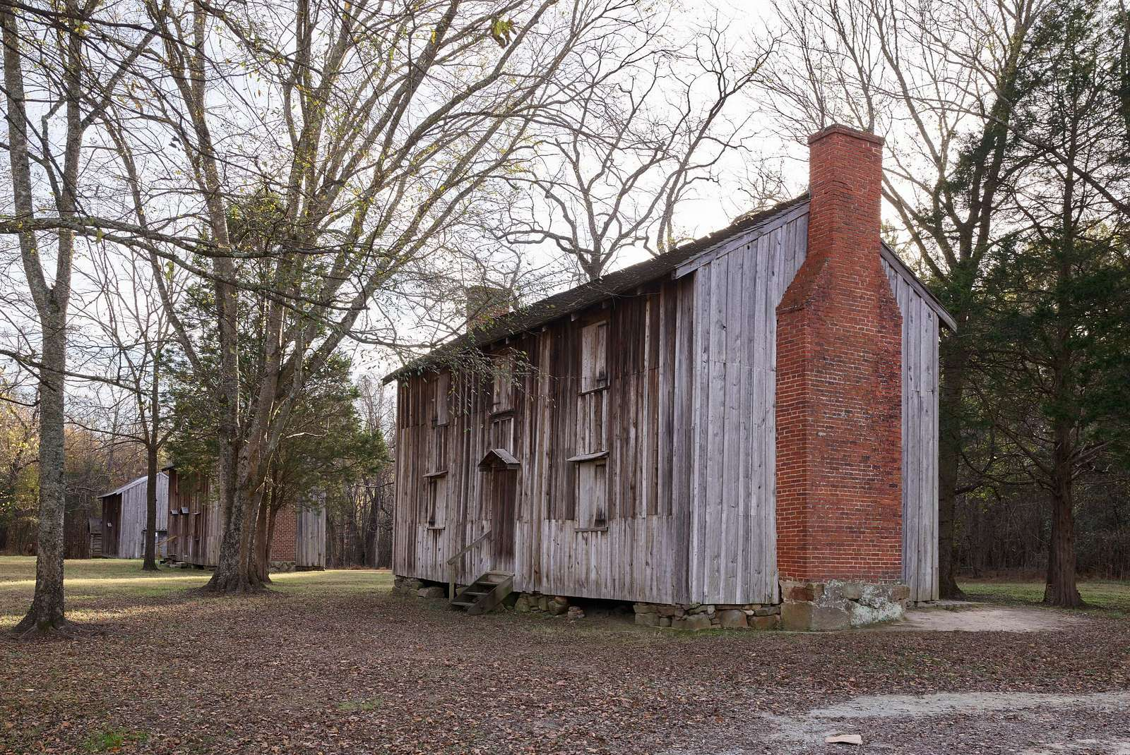 Slave quarters at Historic Stagville, a North Carolina historic site on the outskirts of Durham