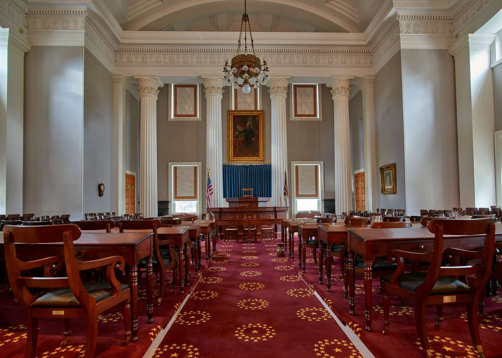 The onetime House of Representatives Chamber in the North Carolina Capitol in Raleigh