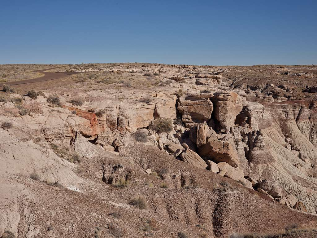 Formations in the Petrified Forest, now part of a U.S. national park near Holbrook in Arizona's remote Navajo and Apache counties