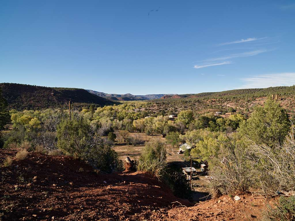 Part of the tiny (population about 125), widely scattered settlement of Carizzo, deep in the Salt River Canyon of Arizona. Nearly all the residents are American Indians