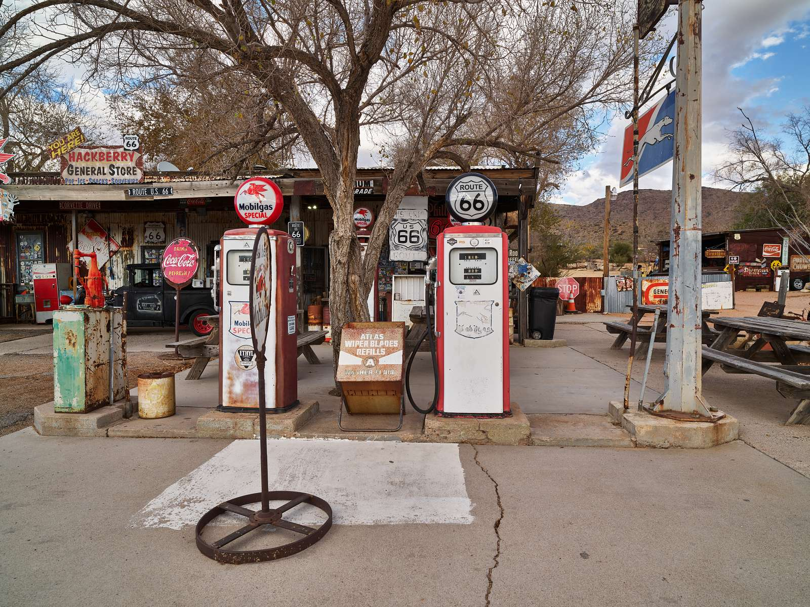 Scene at the Hackberry General Store in the dot of a place called Hackberry along old U.S. 66 in northwestern Arizona