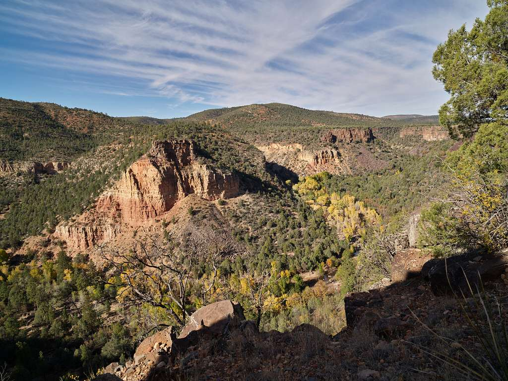 View of Salt River Canyon, which bisects the entire length of a 32,101-acre wilderness area within the Tonto National Forest in Arizona