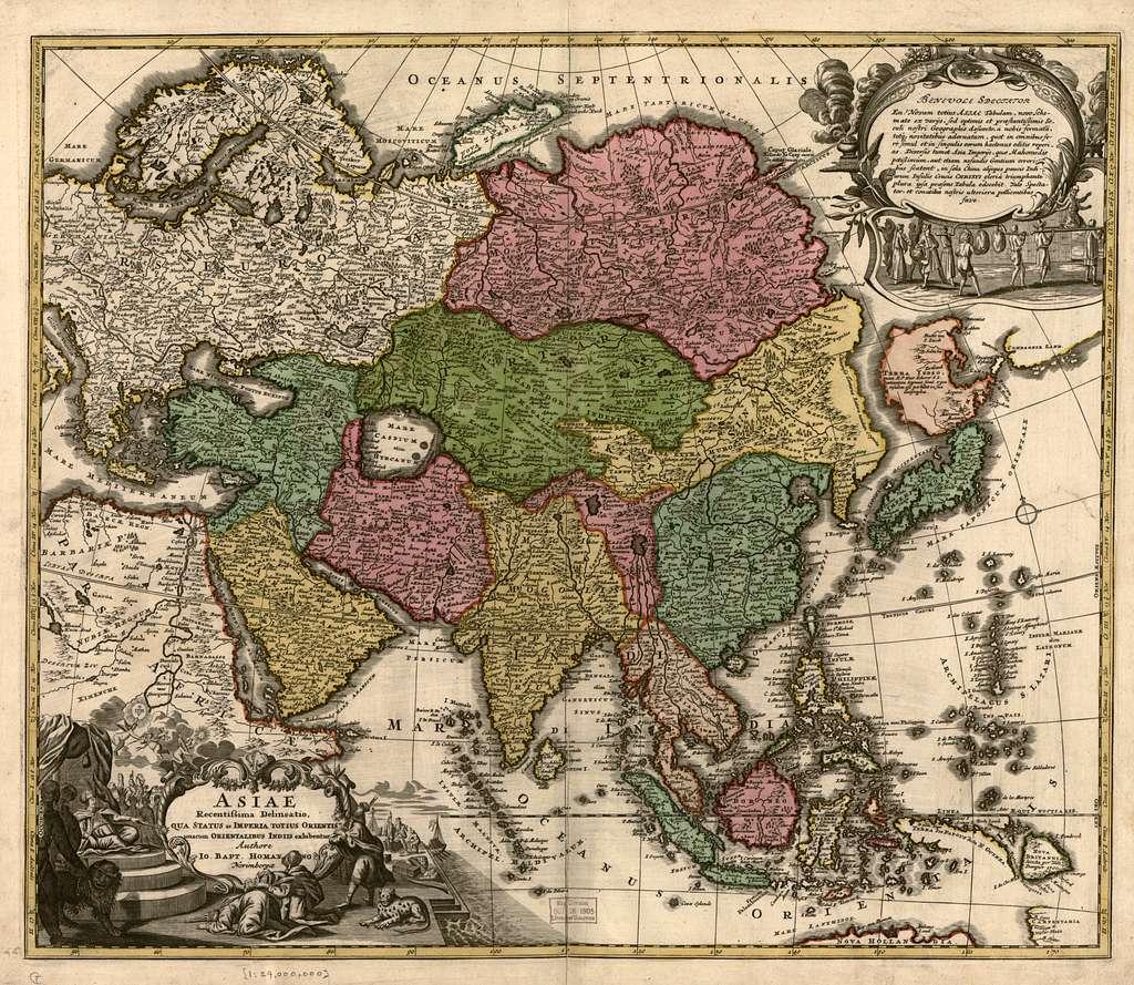 Asiae recentissima delineatio, qua status et imperia totius orientis unacum orientalibus indiis exhibentur /