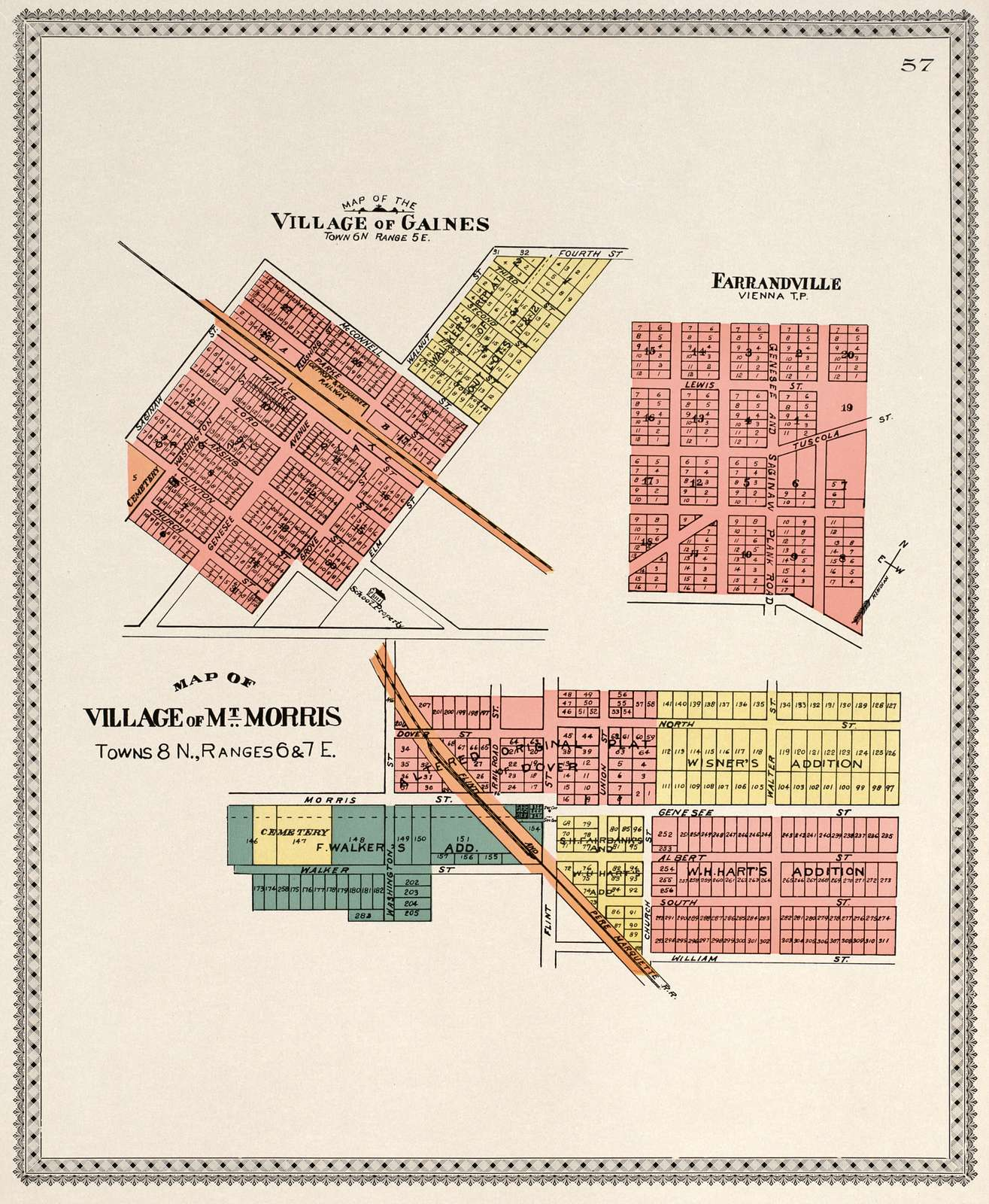 Atlas of Genesee County, Michigan : containing maps of every township in the county, with village and city plats, also maps of Michigan and the United States, from official records.