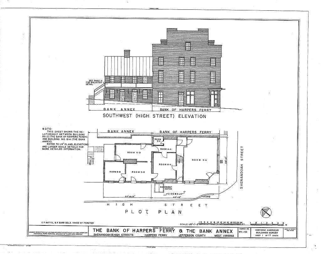 Bank of Harpers Ferry & Bank Annex, Shenandoah & High Streets, Harpers Ferry, Jefferson County, WV