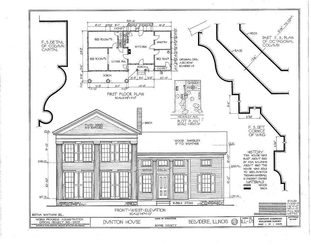 Dunton House, 807 McKinley Avenue, Belvidere, Boone County, IL