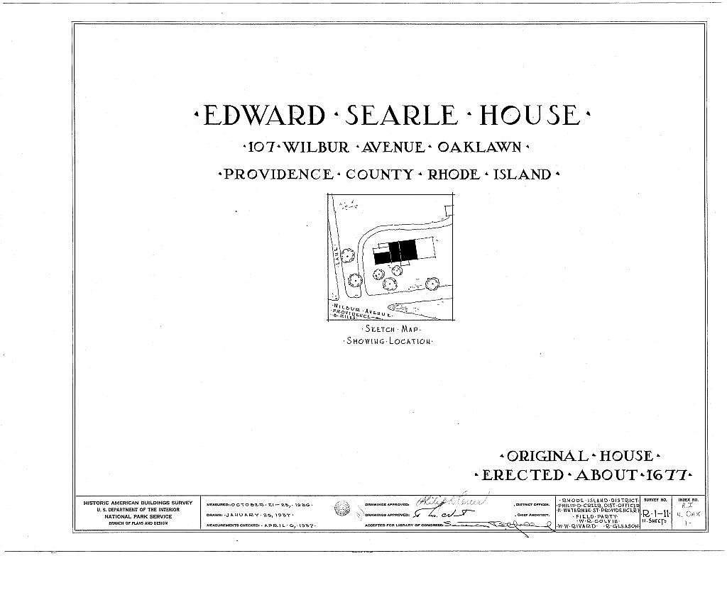 Edward Searle House, 107 Wilbur Avenue, Oaklawn, Providence County, RI