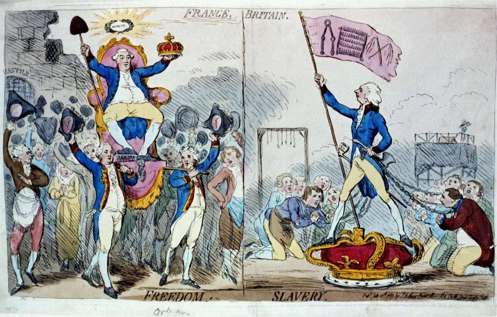 France. Britain. Freedom. Slavery