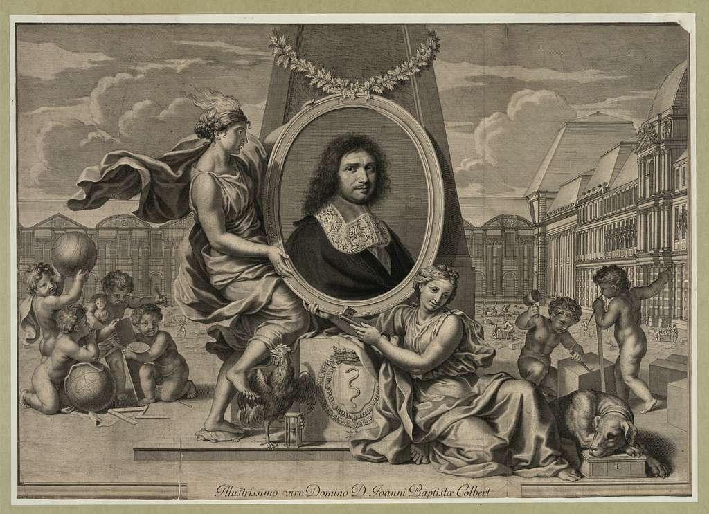 Illustrissimo viro Domino D. Joanni Baptistæ Colbert / Nanteuil ad vivum ping. et sculpebat cum priuii Regis.
