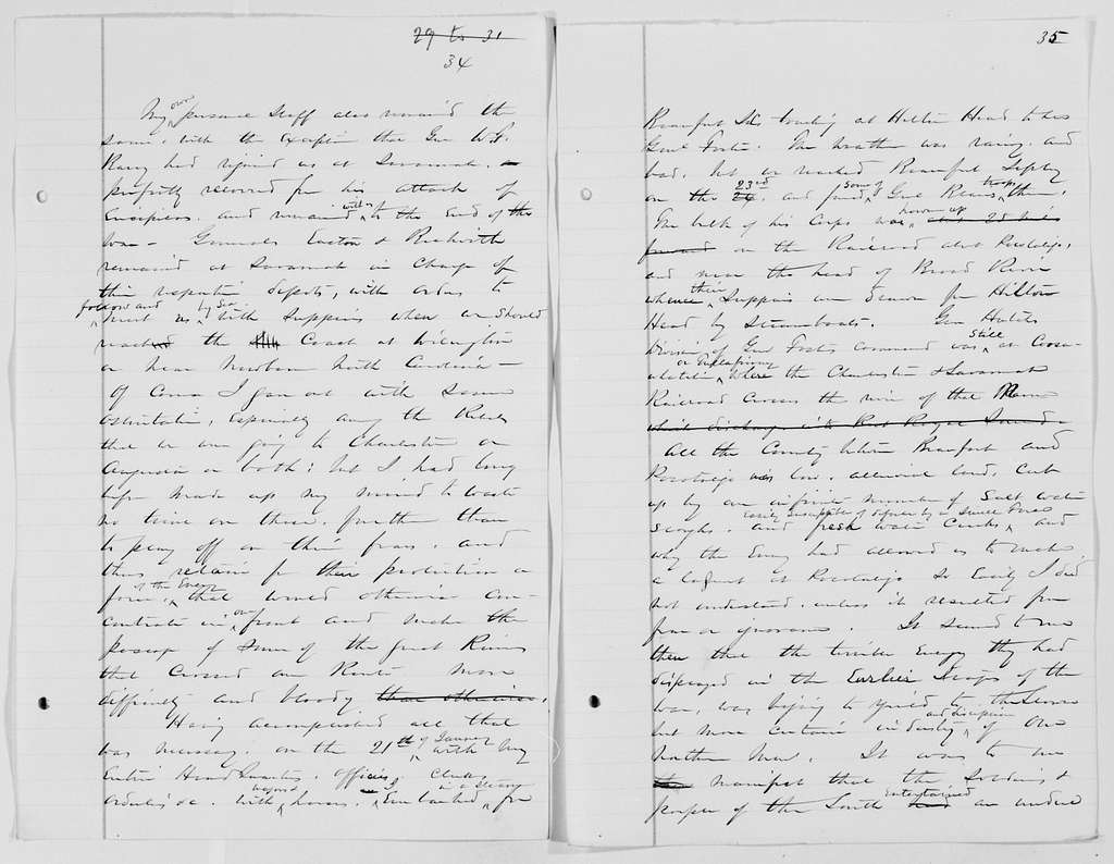 "William T. Sherman Papers: Book File, circa 1875-1896; Memoirs; Drafts; ""Savannah and Pocotaligo"", 1864, Dec.-1865, Jan"