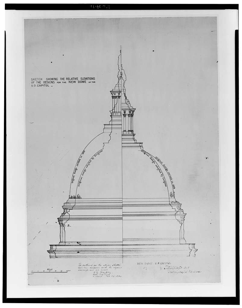 [Alterations to the U.S. Capitol including extensions and new dome, Washington, D.C. Dome and tholos]
