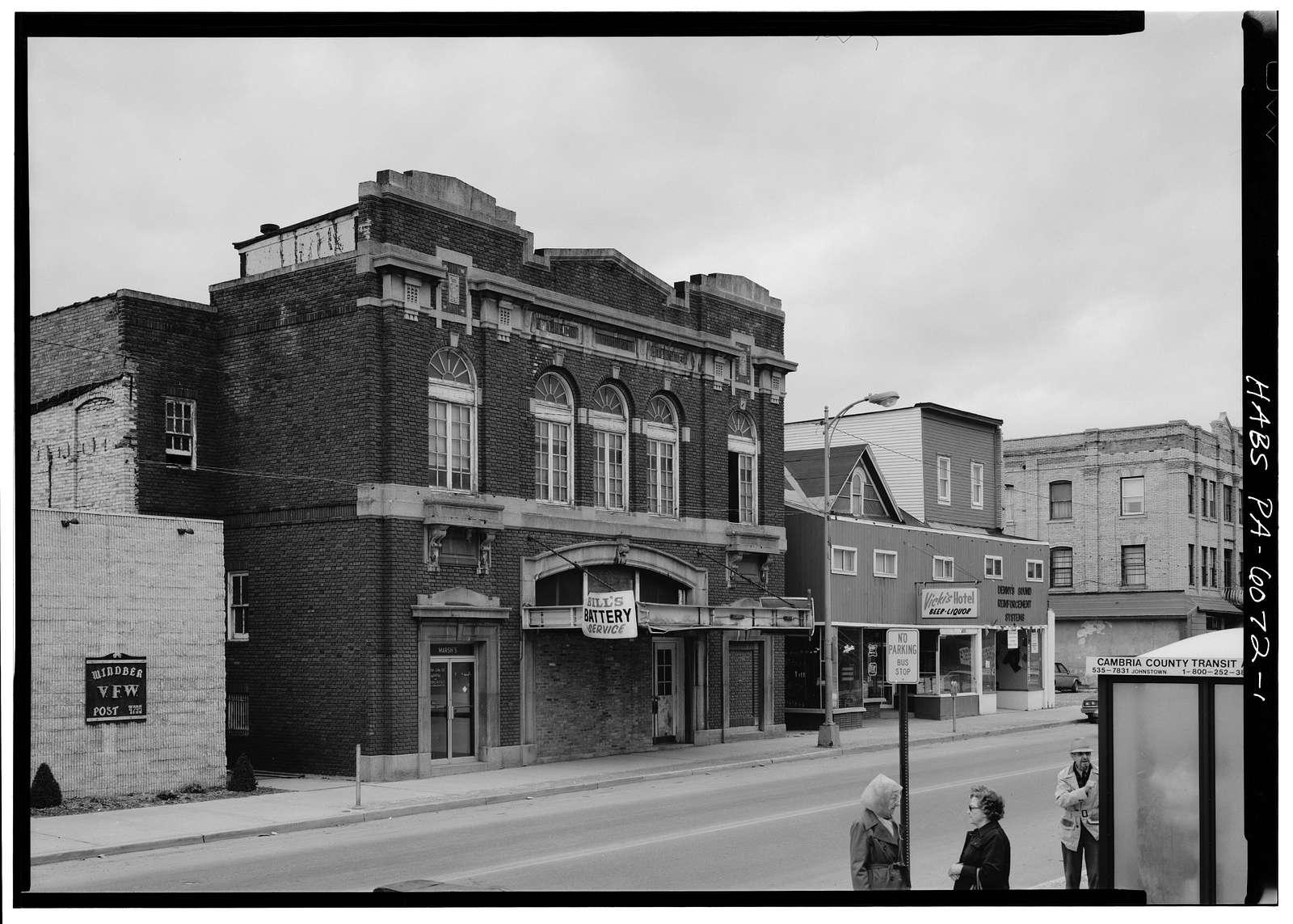 Arcadia Theater, Graham Avenue, Windber, Somerset County, PA