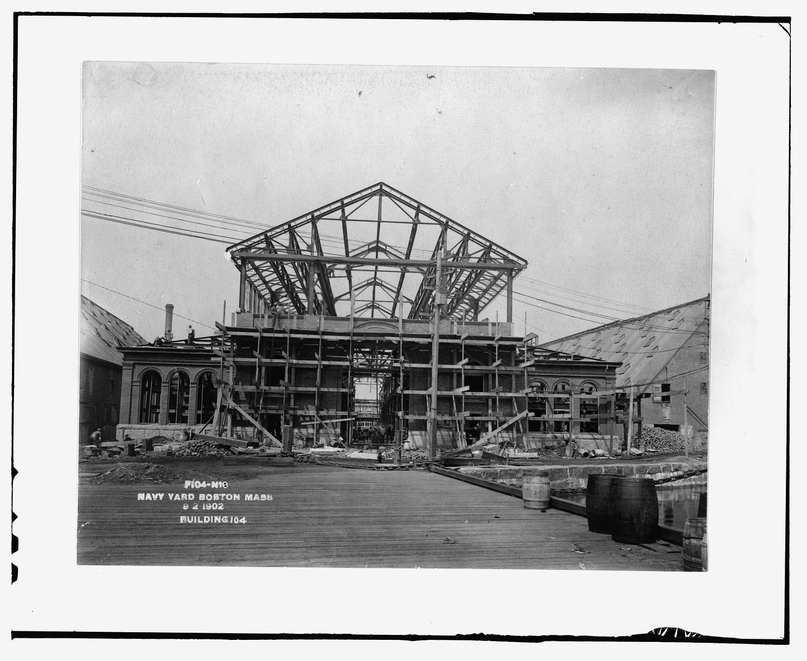 Charlestown Navy Yard, Shipfitters' Shop, Southeast side of First Avenue between Ninth & Thirteenth Streets, Boston, Suffolk County, MA