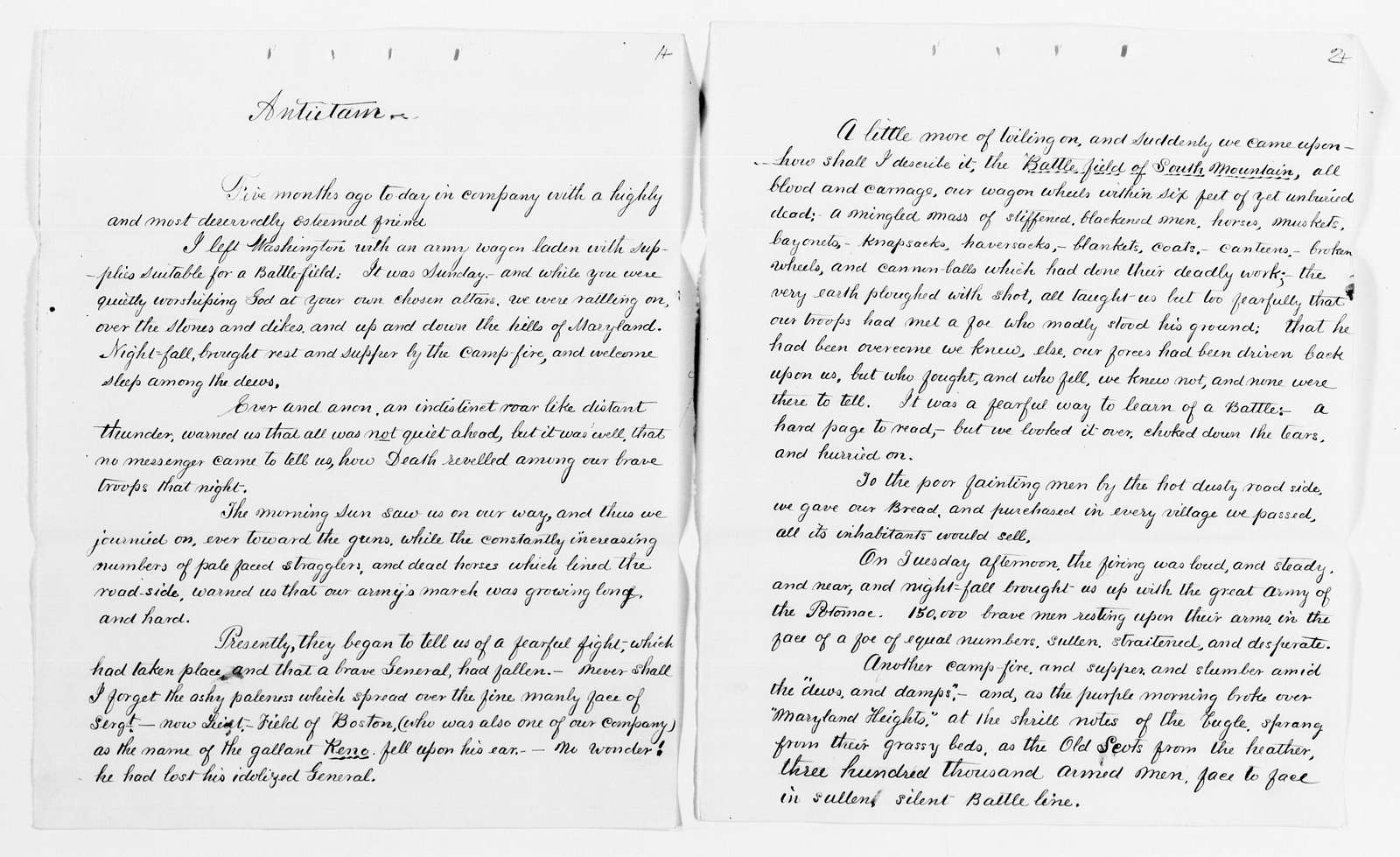 Clara Barton Papers: Speeches and Writings File, 1849-1947; Speeches and lectures; Manuscripts and printed copies; Undated