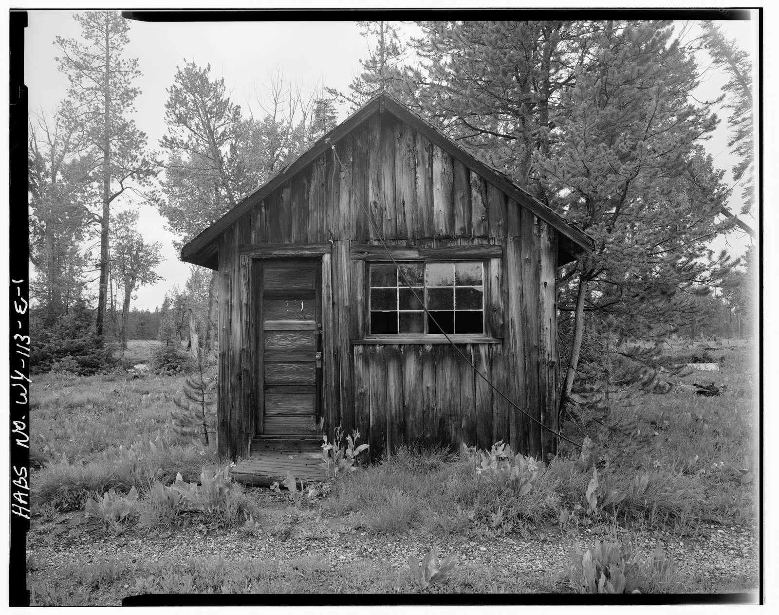 Geraldine Lucas Homestead, Guest Cabin, West bank Cottonwood Creek, 2.5 miles downstream from Jenny Lake, Moose, Teton County, WY