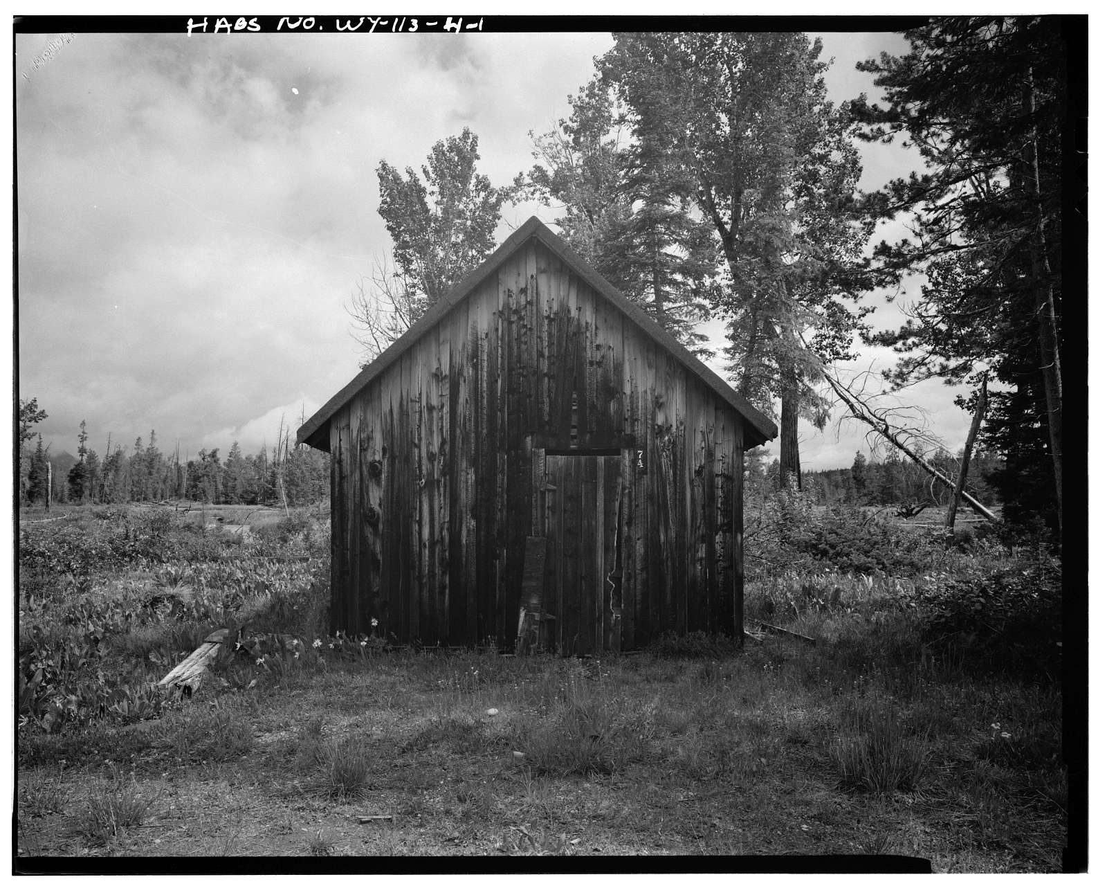 Geraldine Lucas Homestead, Tool House, West bank Cottonwood Creek, 2.5 miles downstream from Jenny Lake, Moose, Teton County, WY