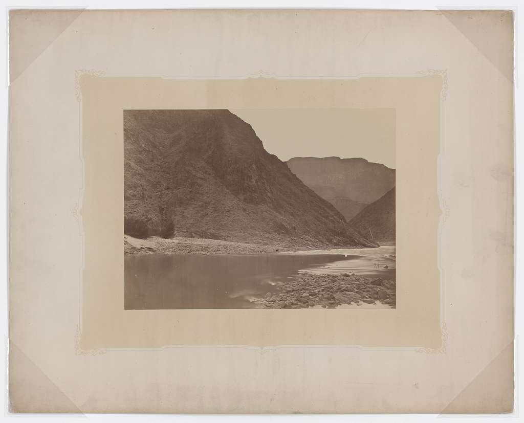 Grand Canyon, looking below mouth of Diamond River, Colorado River, 1871