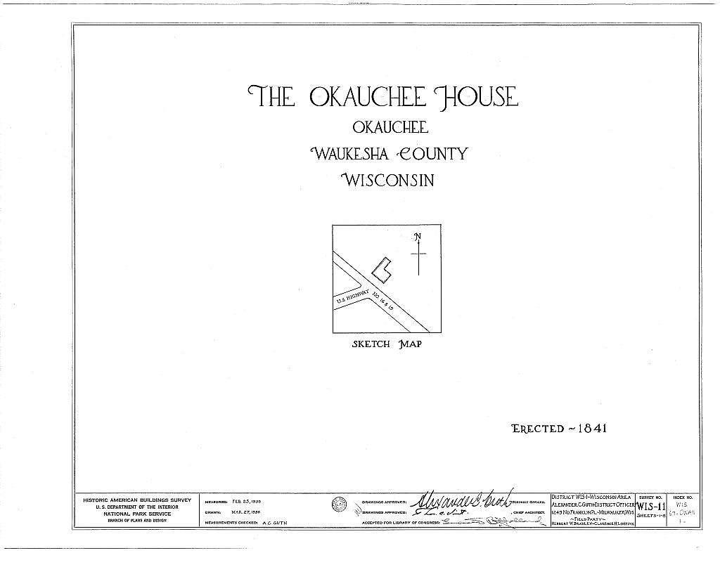Okauchee House, U.S. Highways 16 & 19, Okauchee, Waukesha County, WI