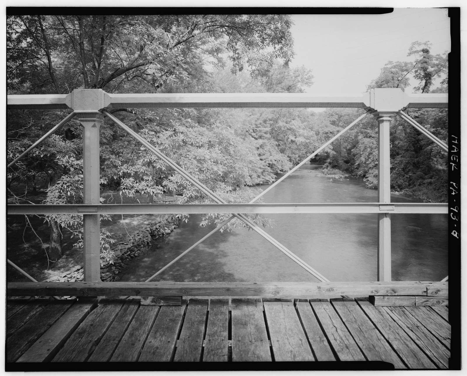 Old Mill Road Bridge, Spanning Saucon Creek, Old Mill Road, Hellertown, Northampton County, PA