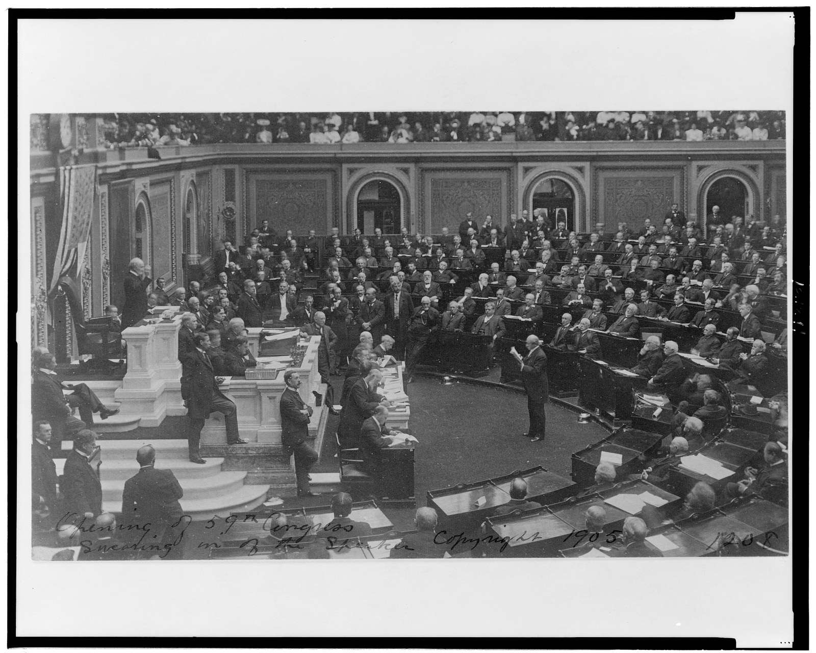 [Opening ceremonies of the U.S. 59th Congress, 2nd session, 1906, with Speaker Joseph Cannon presiding]
