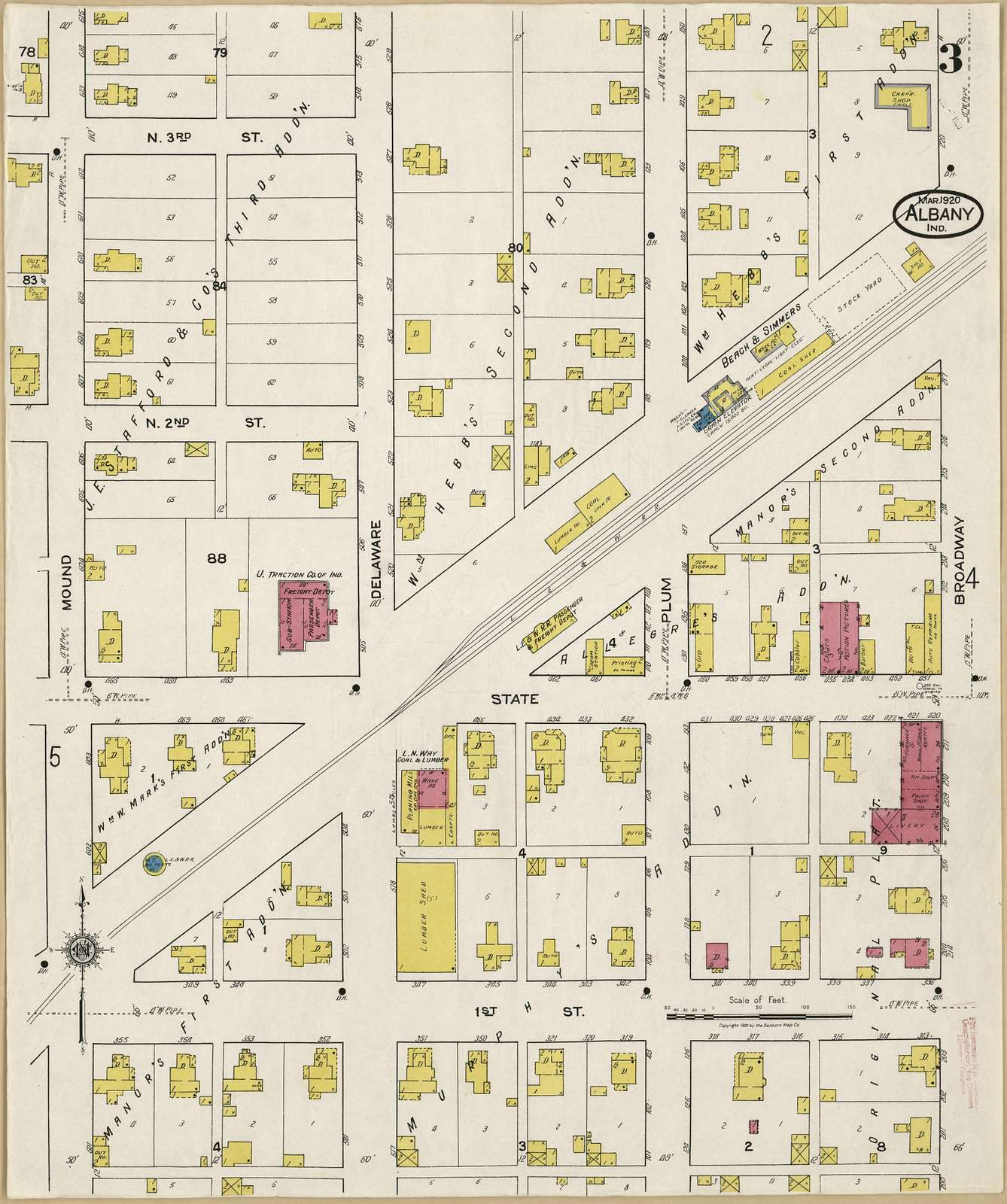 Sanborn Fire Insurance Map from Albany, Delaware County, Indiana.