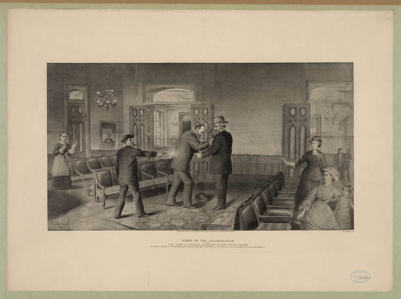 Scene of the assassination of Gen. James A. Garfield, President of the United States