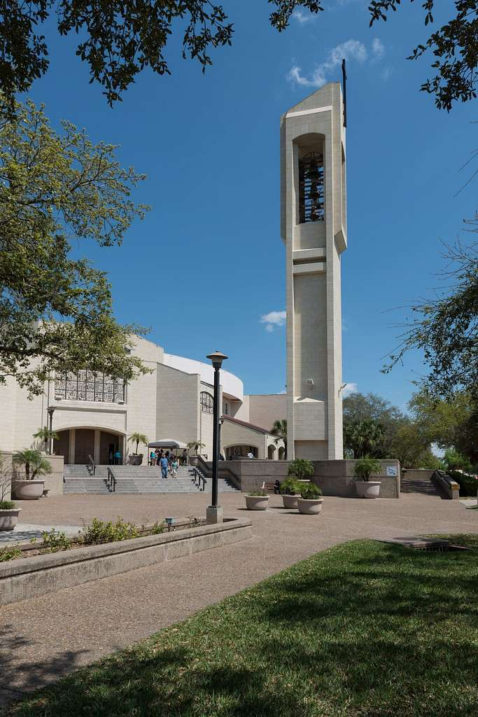 The Basilica of Our Lady of San Juan del Valle, a Catholic shrine that draws thousands of pilgrims each week to San Juan, Texas, near McAllen