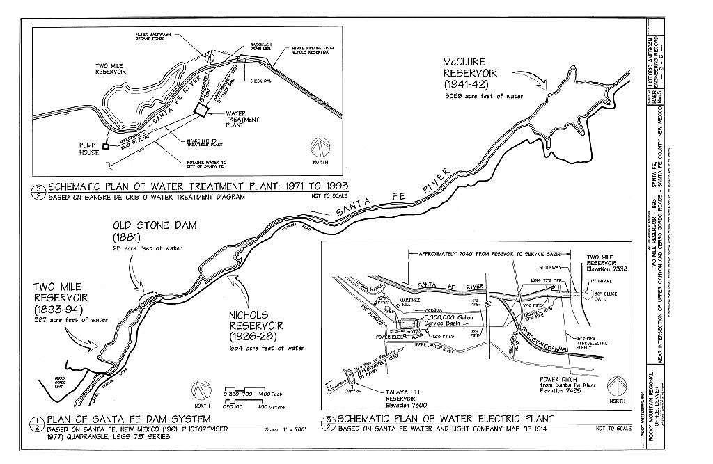 Two Mile Reservoir, Santa Fe River, intersection of Canyon & Cerro Gordo Roads, Santa Fe, Santa Fe County, NM