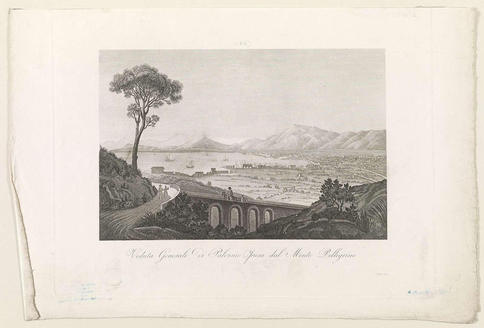 Veduta generale di palermo presa dal Monte Pellegrino