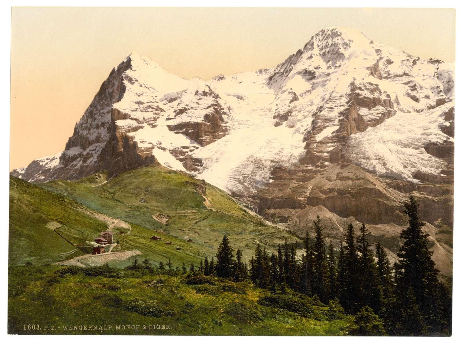 [Wengern Alp, Monch and Eiger, Bernese Oberland, Switzerland]