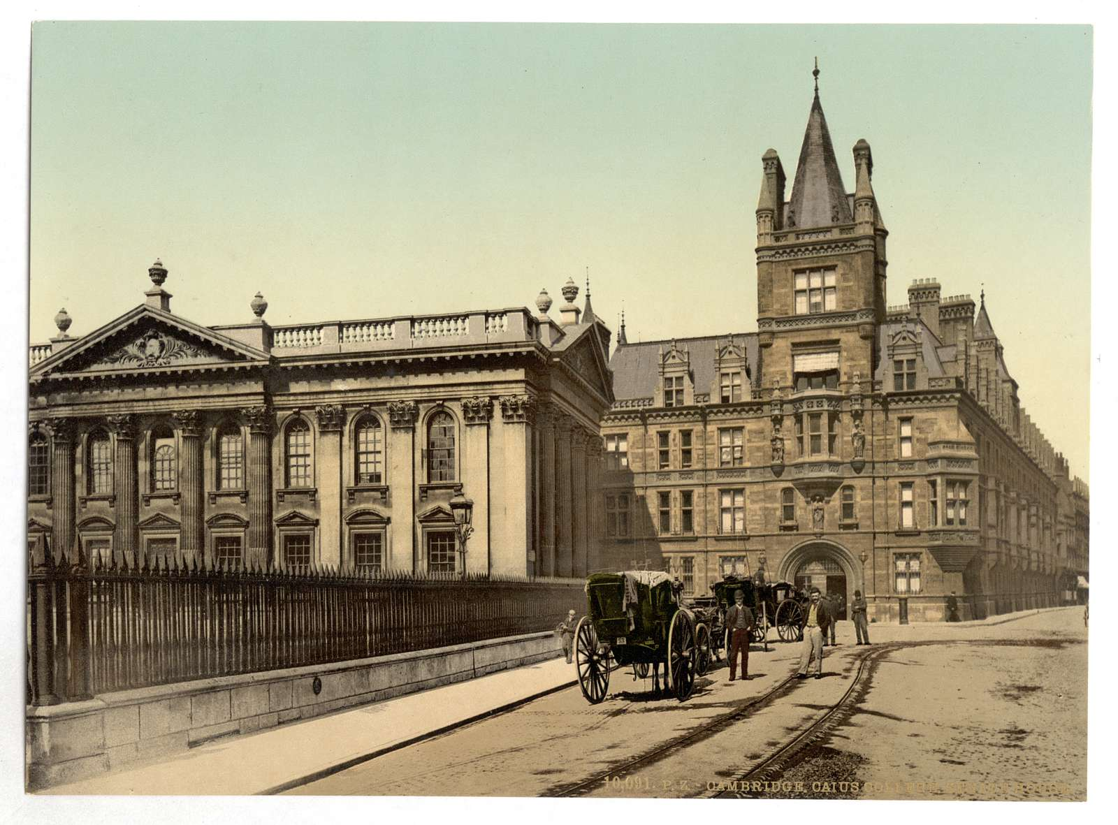 [Caius College and Senate House, Cambridge, England]