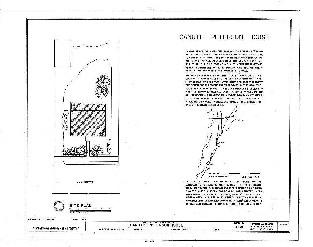 Canute Peterson House, 10 North Main Street, Ephraim, Sanpete County, UT