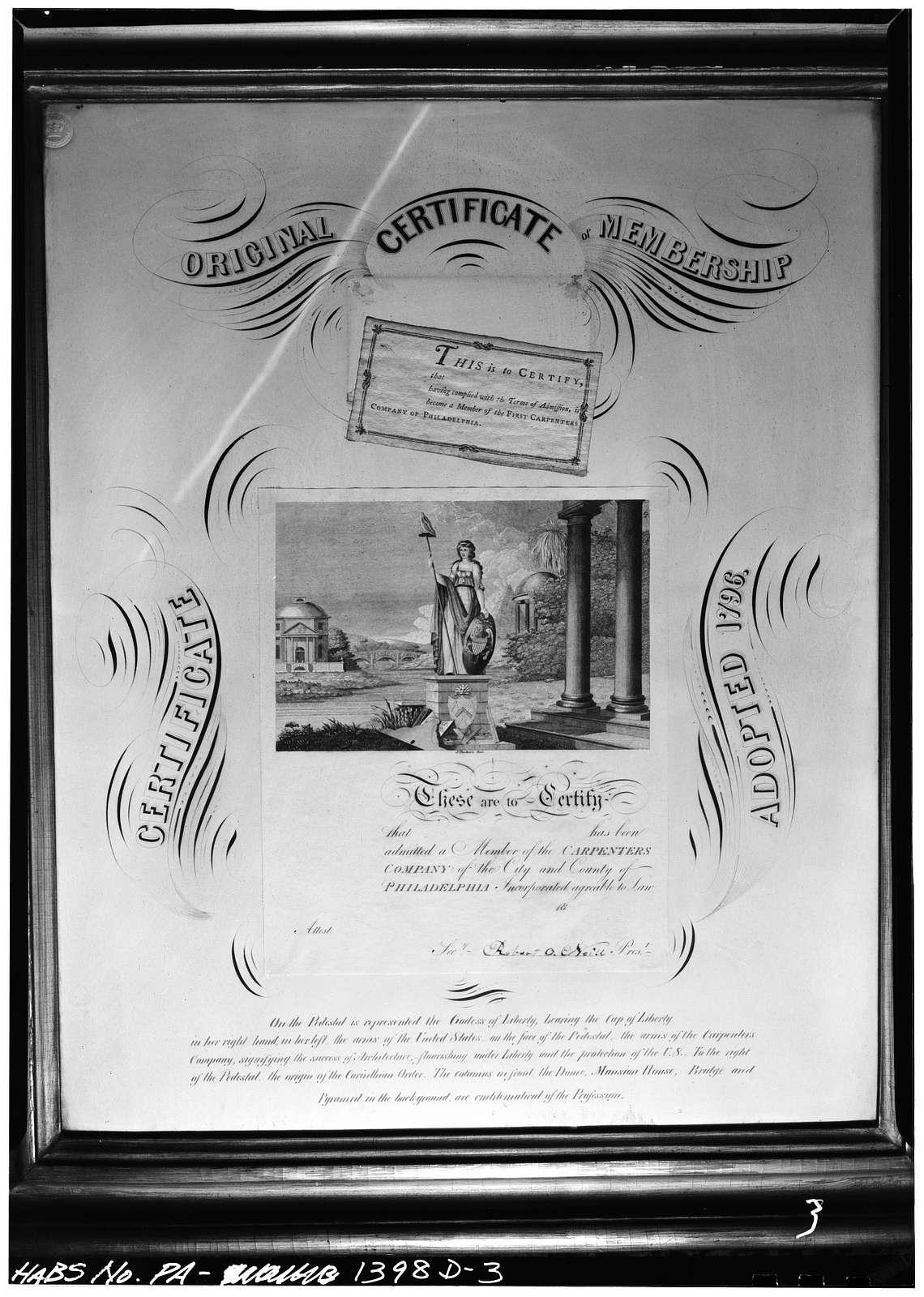 Carpenters' Company, Rule Book (carpentry manual), Philadelphia, Philadelphia County, PA
