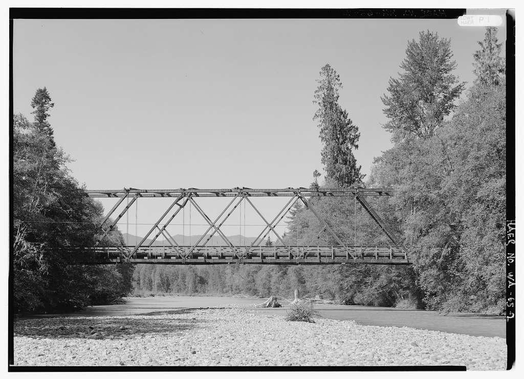 Cispus Valley Bridge, Spanning Cispus River at Forest Service Road 2306, Randle, Lewis County, WA