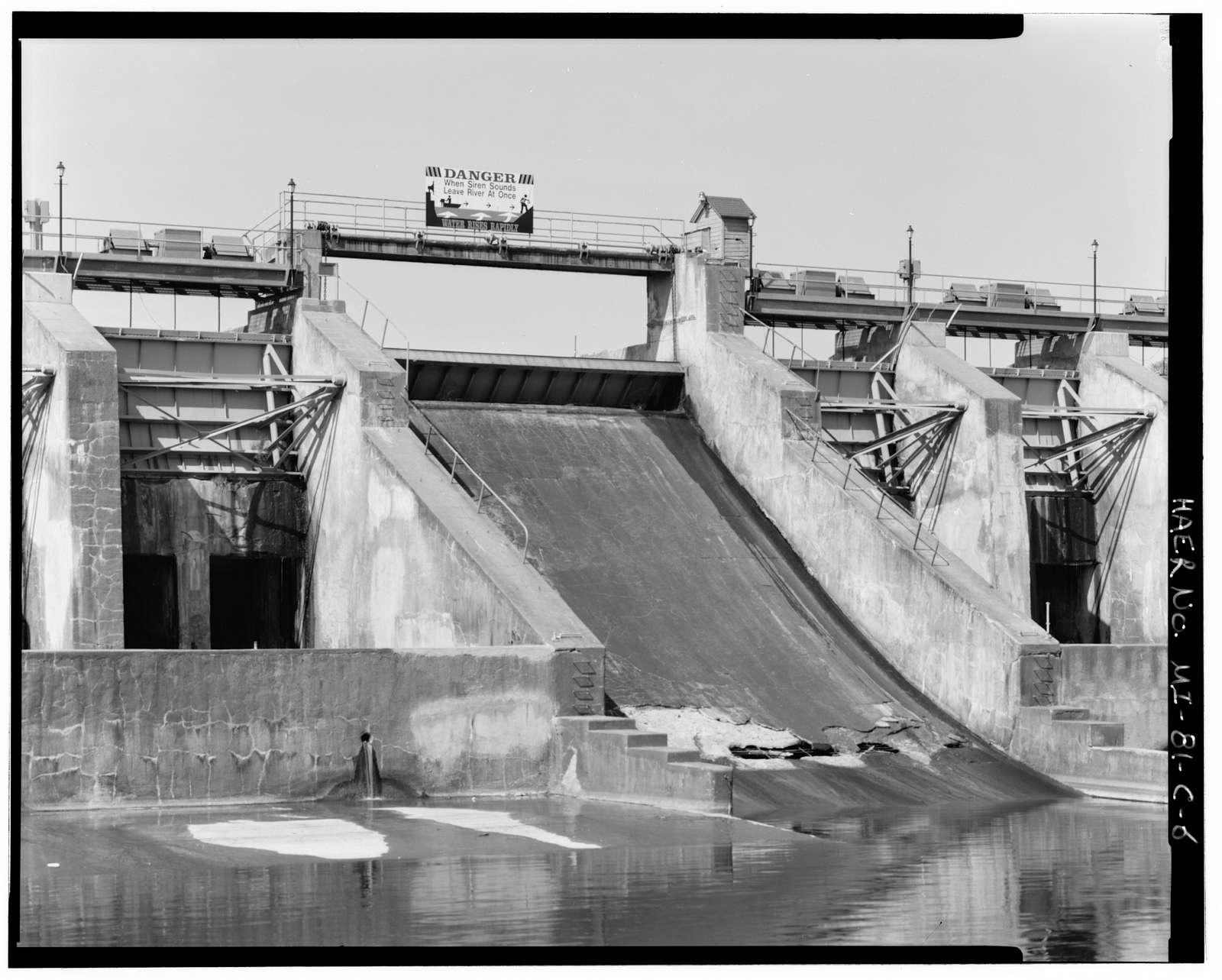 Croton Hydroelectric Plant, Spillway, Croton Dam Road at Muskegon River, Croton, Newaygo County, MI