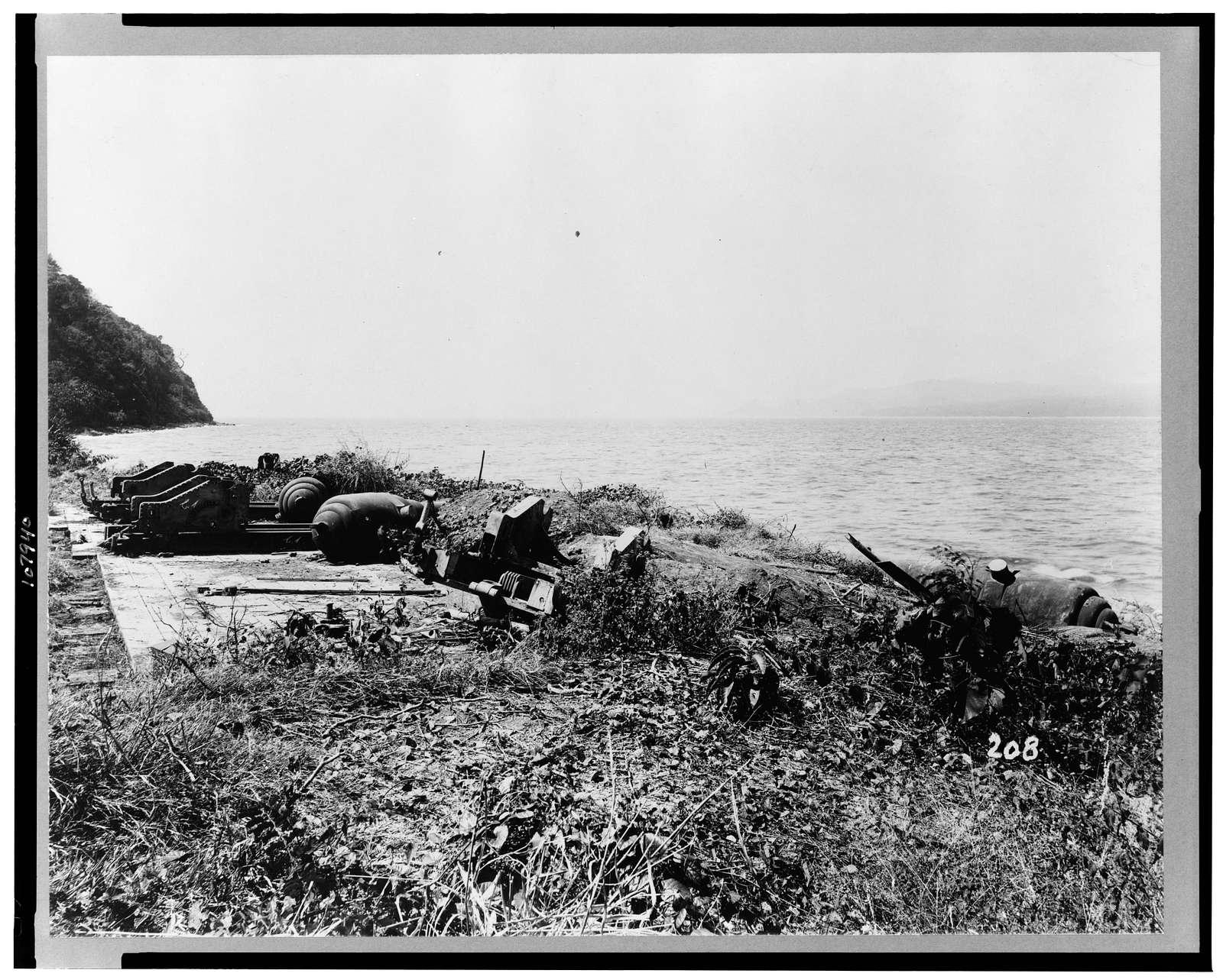 [Dismantled battery, first to fire on Dewey's fleet, Corregidor, Philippine Islands]