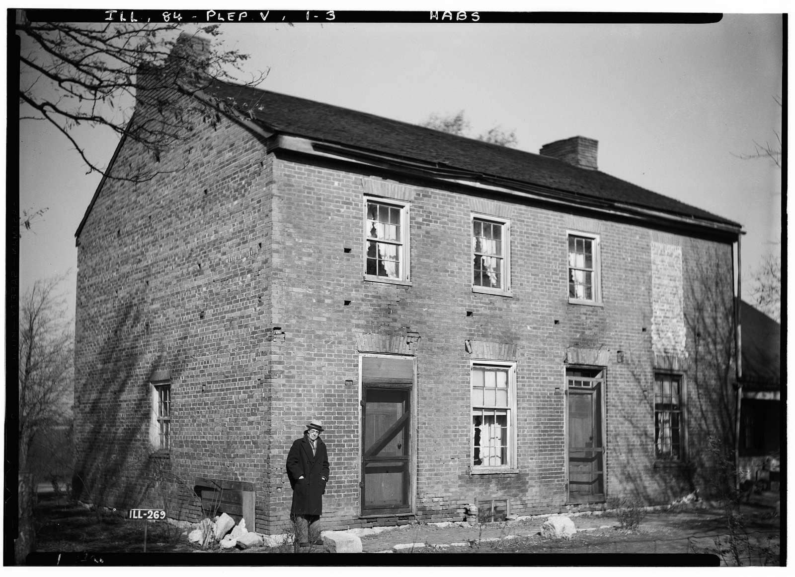 Dr. F. C. Fink House, State Route 125, Pleasant Plains, Sangamon County, IL