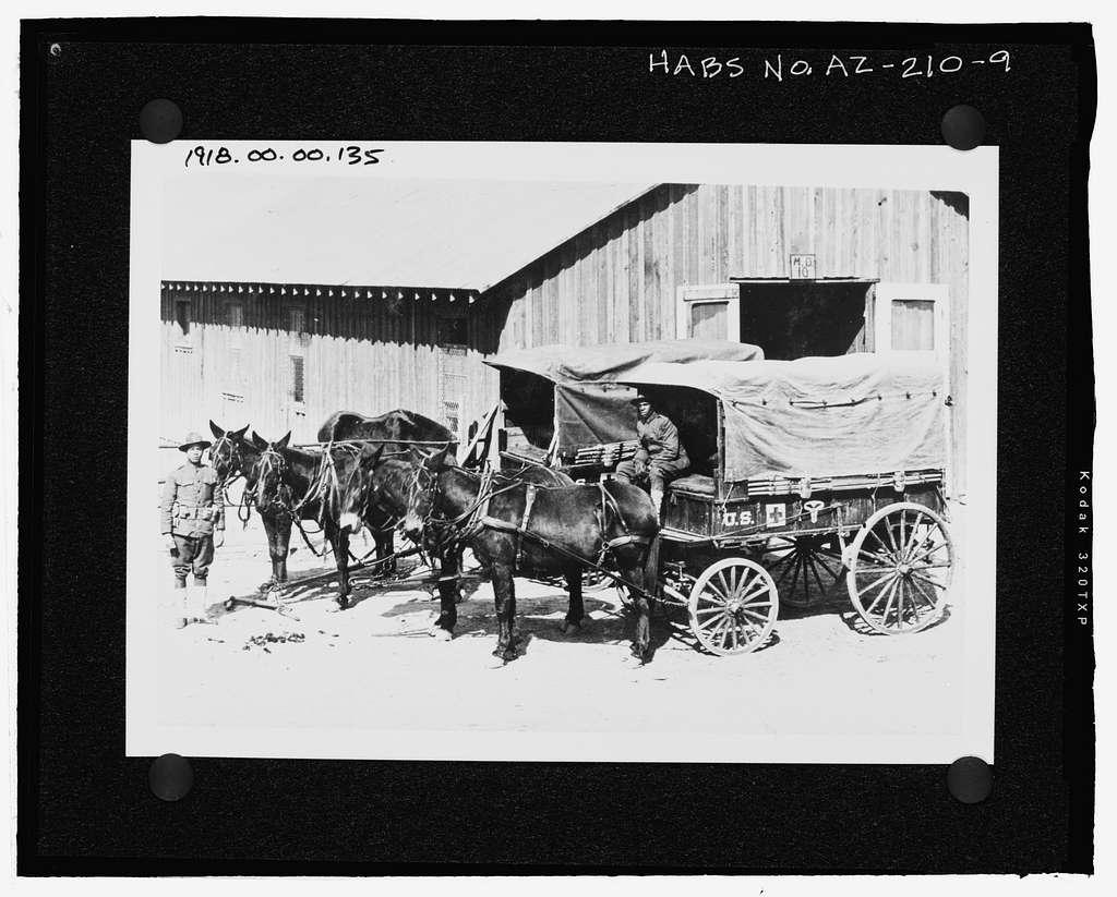 Fort Huachuca, Cavalry Stables, Clarkson Road, Sierra Vista, Cochise County, AZ