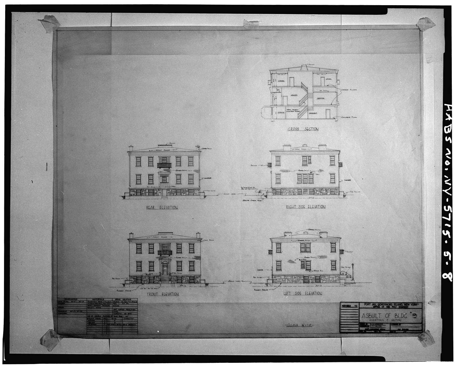 Governors Island, Post Hospital, New York Harbor, Nolan Park near Barry Road, New York, New York County, NY