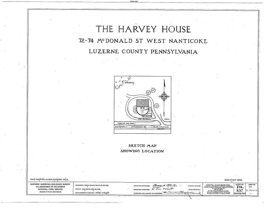 Harvey House, 72-74 McDonald Street, Nanticoke, Luzerne County, PA