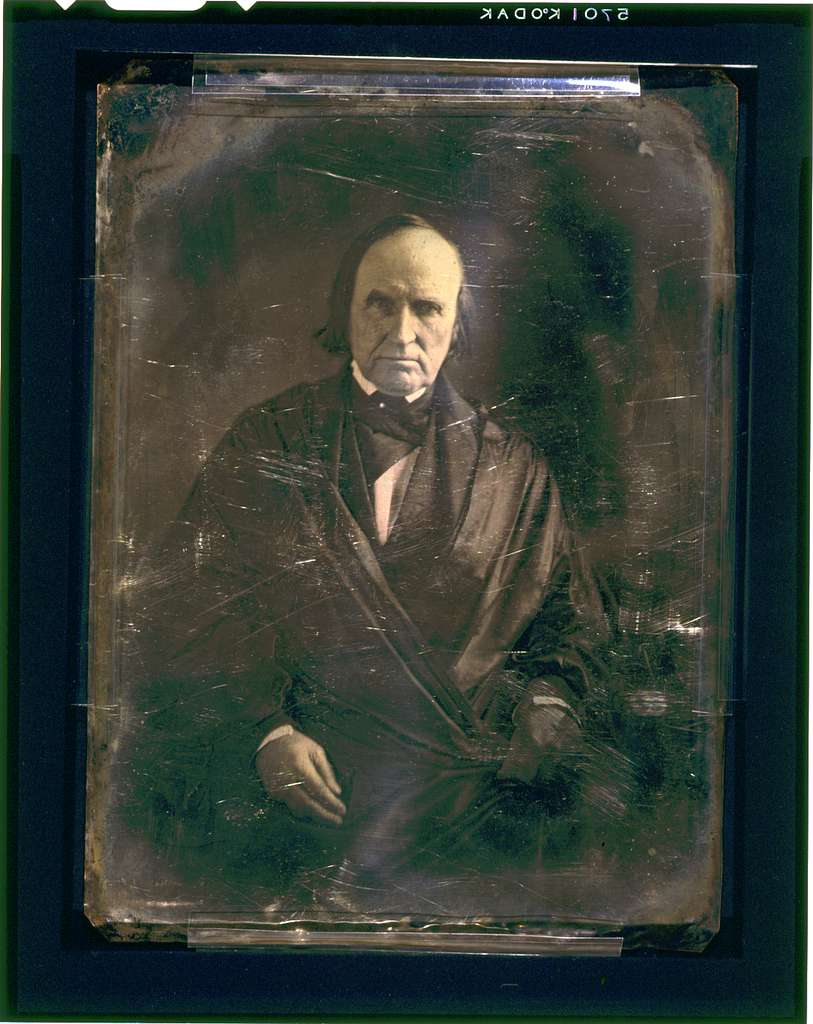[John McLean, three-quarter length portrait, facing front, seated, wearing judicial robes]